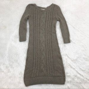 Banana Republic Taupe Knit Sweater Dress